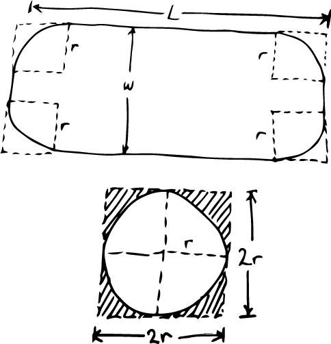 Géométrie pour le calcul de la surface  d'eau